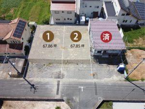 鶴岡西町分譲地航空写真